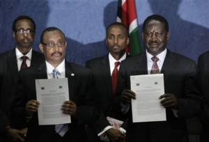 Abdiweli Mohamed Ali, Raila Odinga